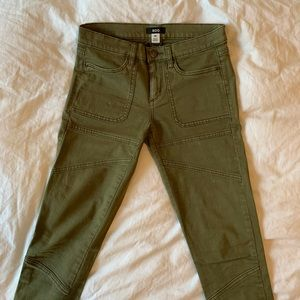 BDG Army Green Skinny Jeans
